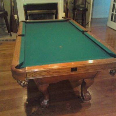Pool Table by Kasson, Oak Ball in Claw, 7' Slate